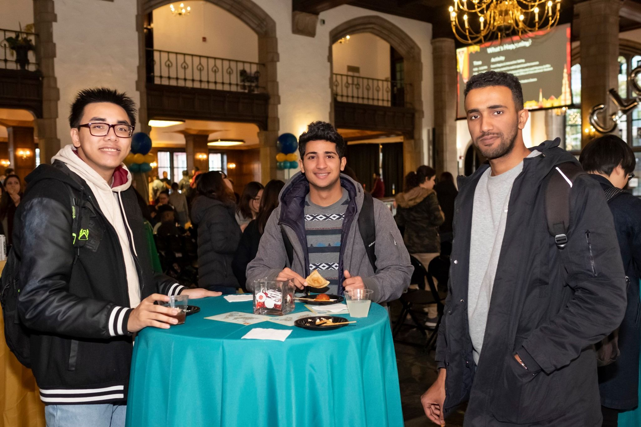 Students at table during Global Gala.