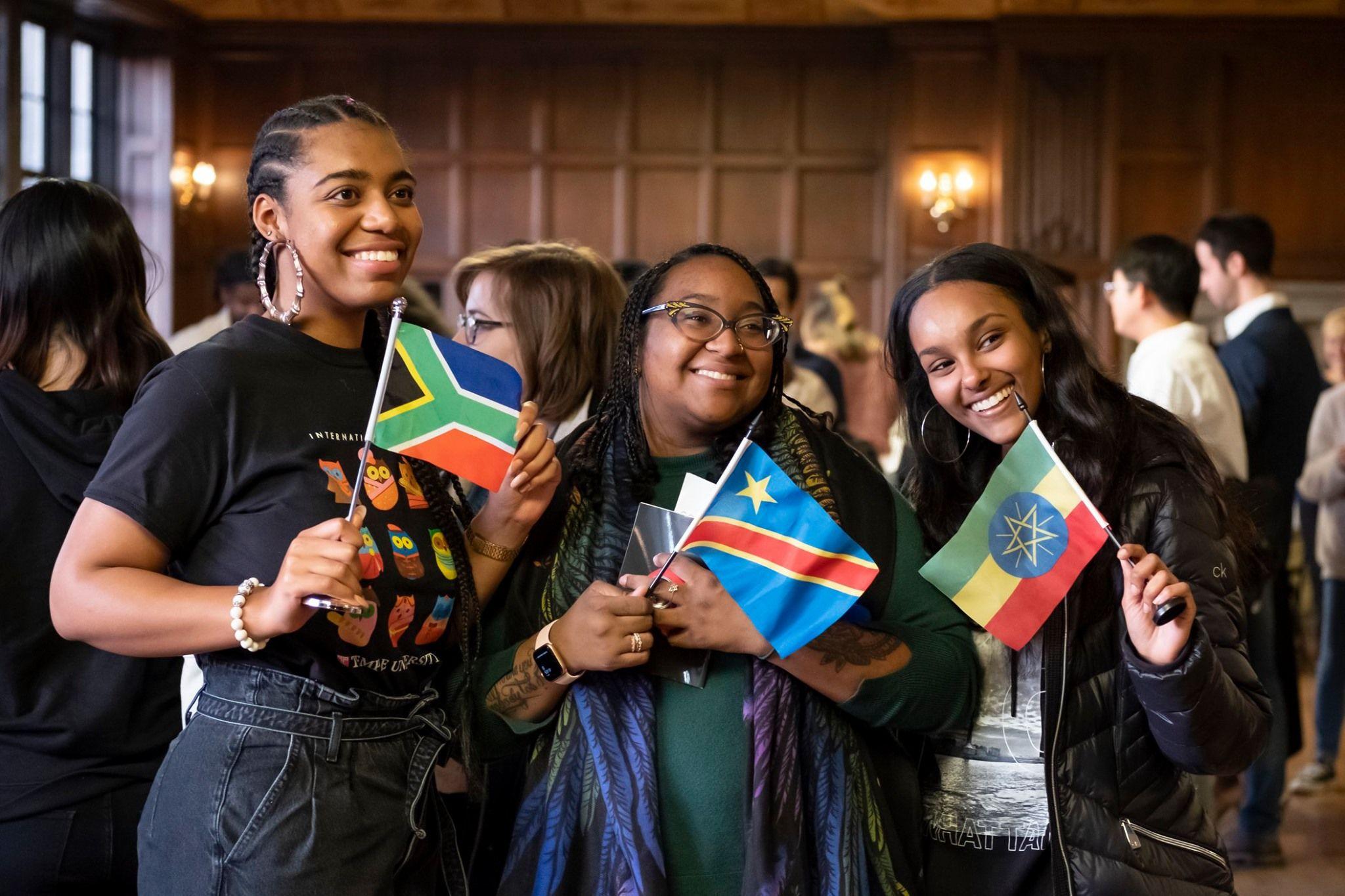 Students enjoying Global Gala.