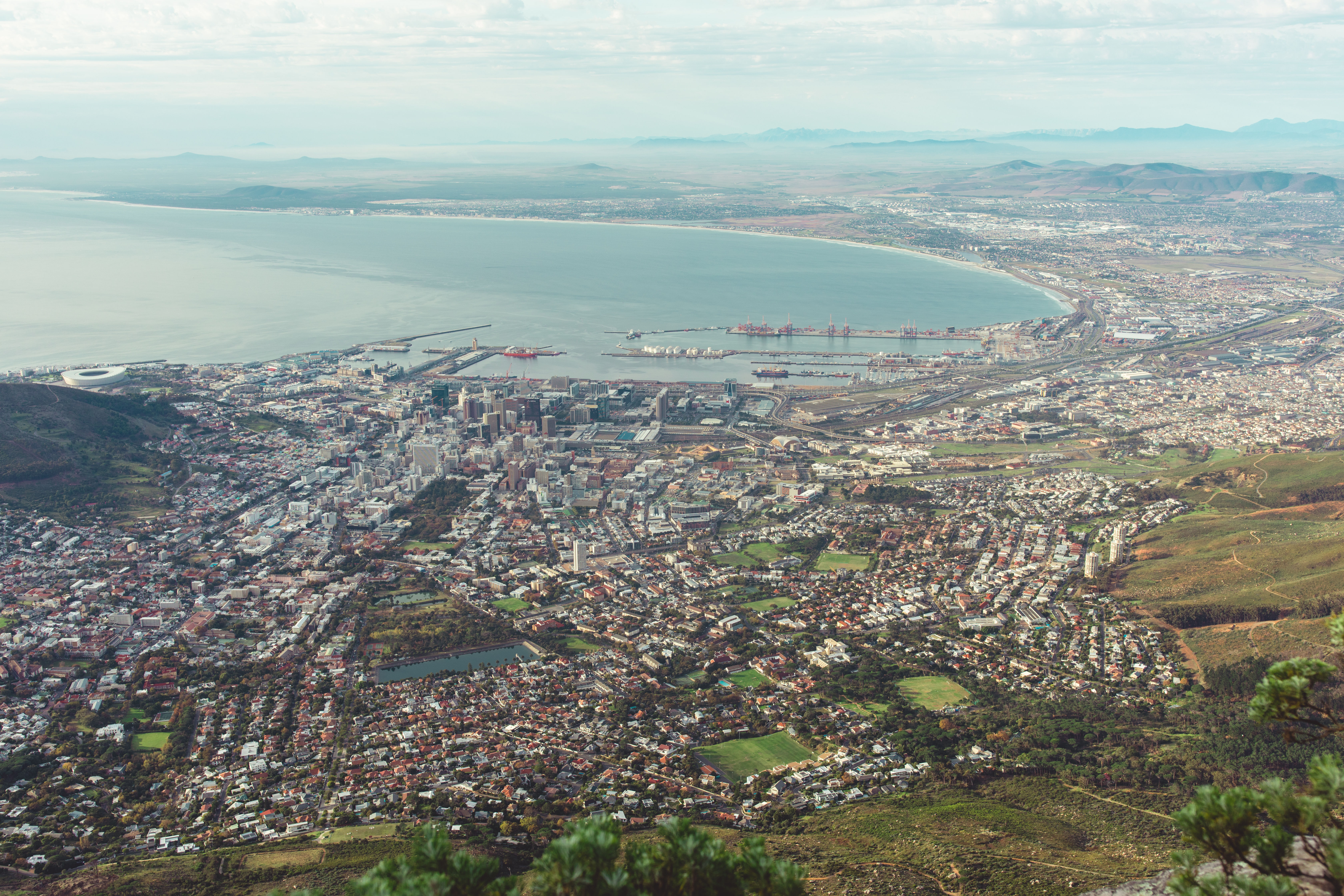Vista view of Cape Town, South Africa